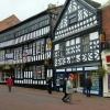 Half timbered building