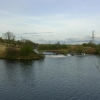 Mersey meets Manchester Ship Canal, near Irlam, Manchester