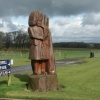 Statue in the car park of the Smithy at Gretna Green.