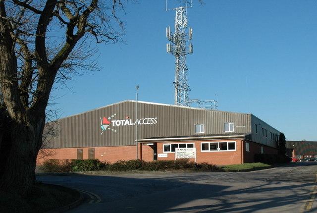 Industrial unit that has grown a pylon