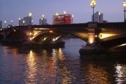 Battersea Bridge at dusk