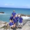 Explorer Scouts enjoying the coast