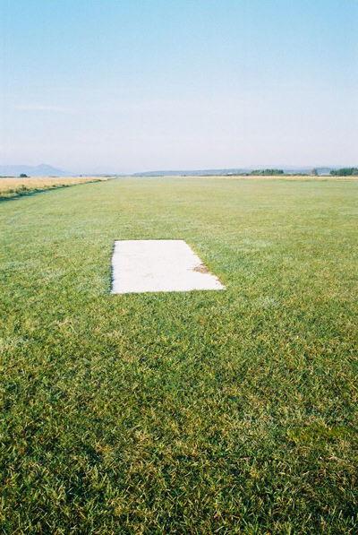 Marker on Dornoch Airfield