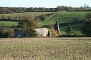 East Worlington: West Worlington church spire