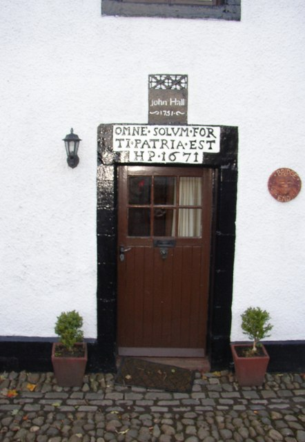 Doorway of house on the A6 next to Eamont Bridge, Yanwath and eamont Bridge