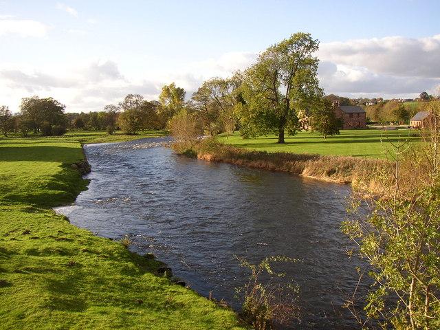 River Eamont from Brougham Castle Bridge, Brougham / Carleton, Penrith