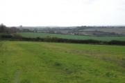 Down farmland looking towards Cashmoor