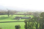 Farmland south of the Seiont estuary