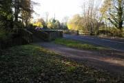 "Wistaston Brook Bridge at ""Joey the Swan"""