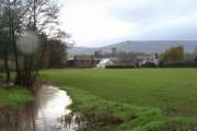 Maerdy Farm and overflowing brook