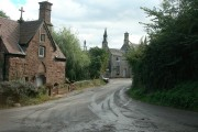 Goodrich village from the Croose