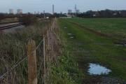 Farmland and railway, Steventon