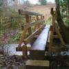 The new footbridge.