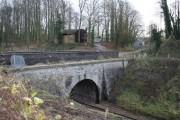 Long Ashton: aqueduct over railway