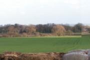 Panorama across low road Everthorpe to farmland
