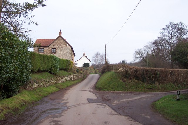 Country lane and cottages