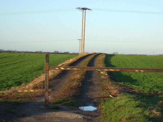 Track and path near Throapham