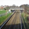 Aylesham railway station, looking NW