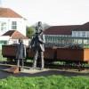 Commemorative statue showing Aylesham's history of mining.
