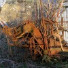 Agricultural contraption at derelict farm