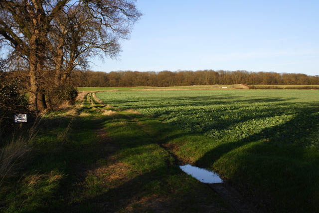 Farmland near Stainfield