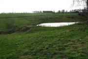 Farmland and pond at Littledean Farm