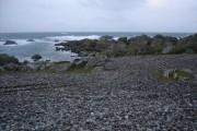 Pebble beach on the south coast of Tiree