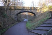 Bridge at Coltbridge Terrace on disused railway line