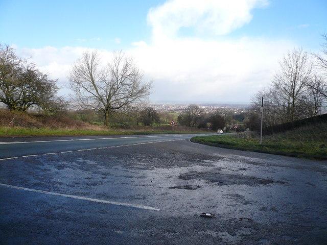 Road Junction near Slate Pit Dale