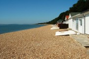 Calshot Beach and Beach Huts