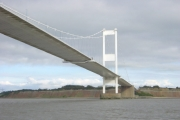 Severn Bridge and Aust Cliff