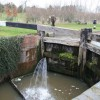 A good stream at lock 2, Droitwich Canal