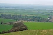 Pentridge village viewed from Pentridge Hill 2