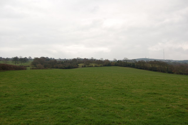 Hilly countryside below Dipton