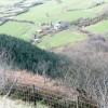 Forest and farmland at Cwm-gwared