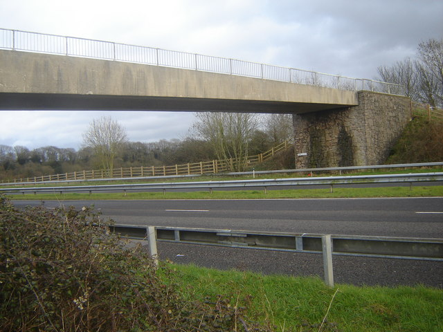 Branch-line Bridge over the M48 at Crick