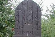 Carved wooden Village Sign