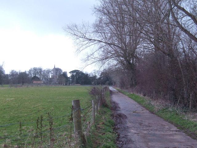 Track off Oak Road