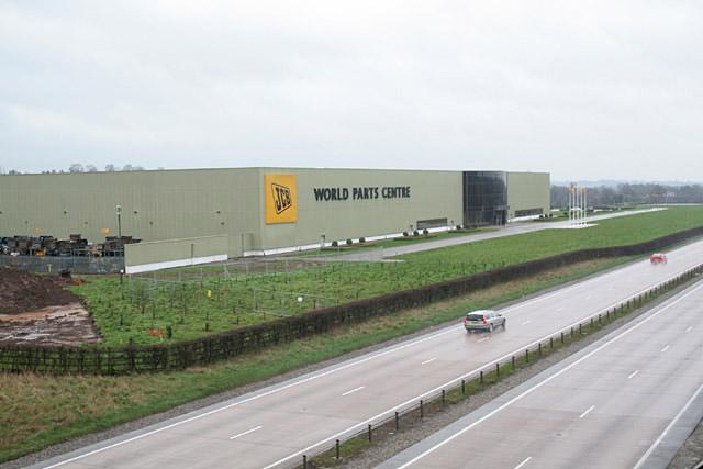 JCB World Parts Centre near Uttoxeter