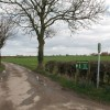Bridleway and farm road at Catton