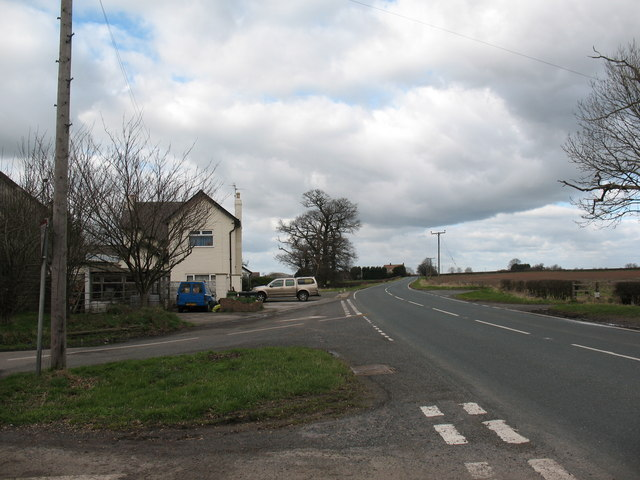 Road Junction at Topcliffe Station