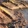 Rock Strata, south end of Goodrington Beach