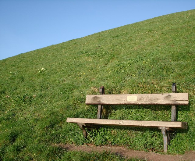 Memorial bench, Sugar Loaf, looking to the South West