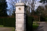 Sphinx on entrance-gate pier, Chiswick House