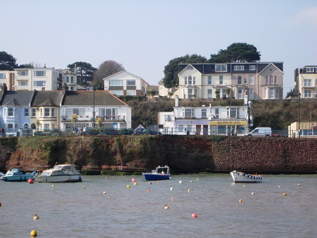 Houses overlook Paignton Harbour