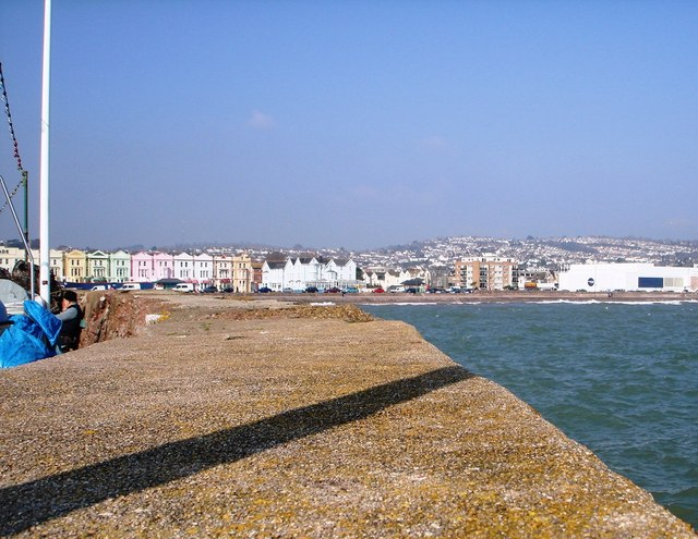Paignton Promenade from the harbour wall