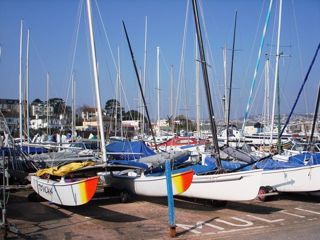 Sailing boats, Paignton harbour