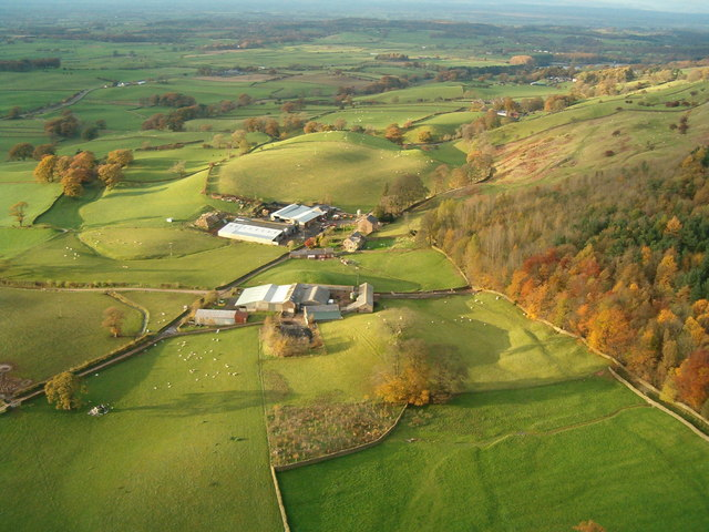 Albyfield Farm Near Cumrew, taken from my Paraglider
