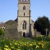 Horfield Parish Church in the spring