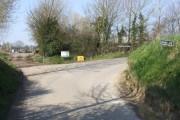 Bend where Wash Lane meets Darrow Green Road